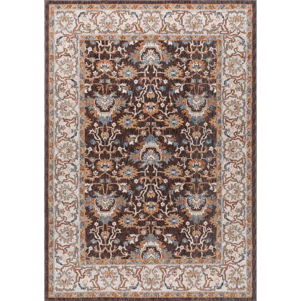 tayse rugs fairview brown 5 ft 3 in x 7 ft 3 in area rug fvw3208 5x8 the home depot. Black Bedroom Furniture Sets. Home Design Ideas