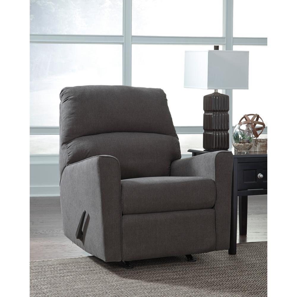 Excellent Alenya Charcoal Fabric Rocker Recliner Machost Co Dining Chair Design Ideas Machostcouk