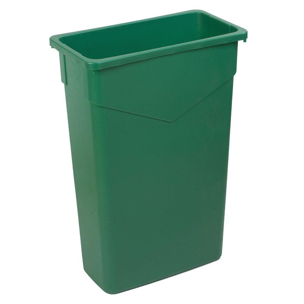 TrimLine 23 Gal. Green Rectangular Trash Can (4-Pack)
