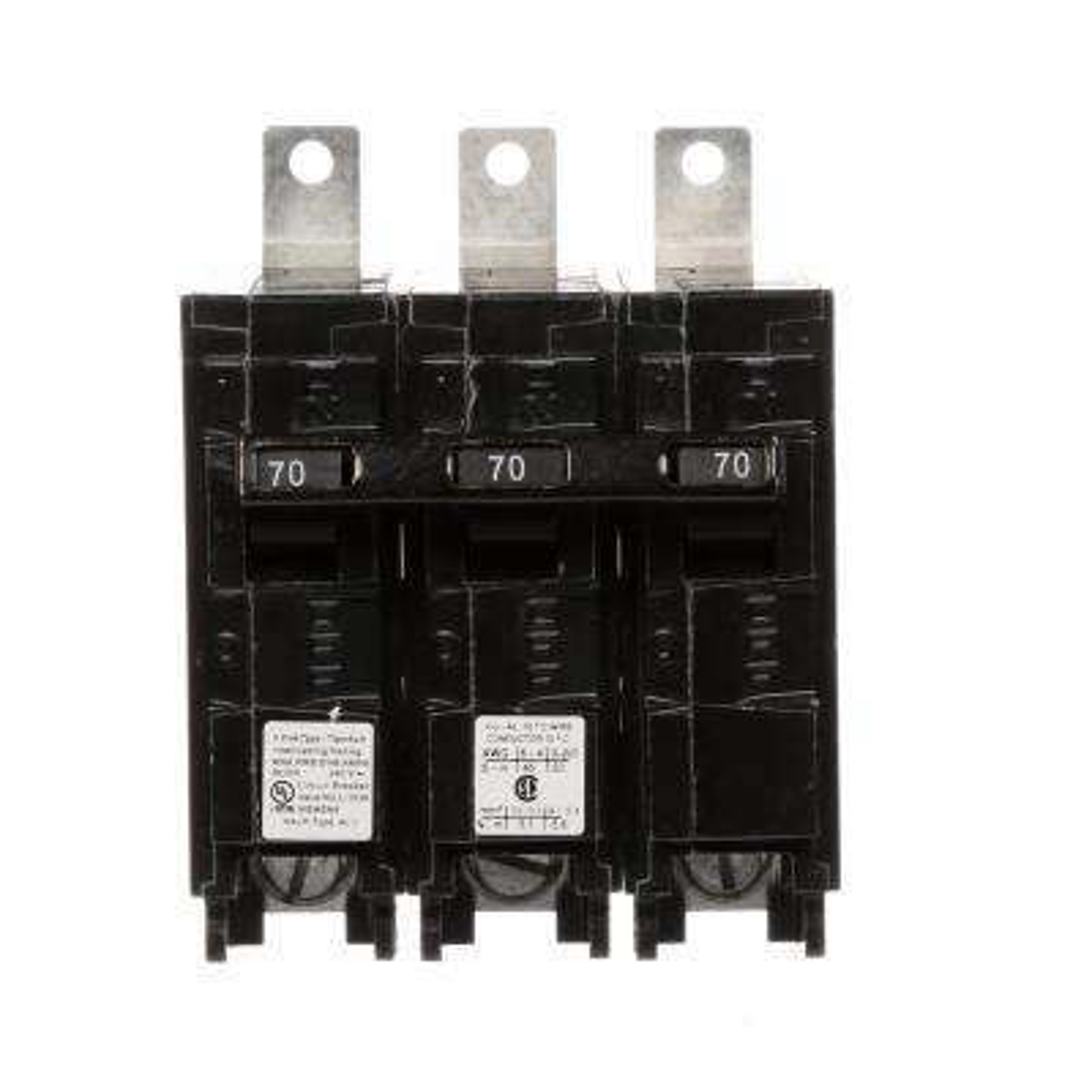 70 Amp 3-Pole Type BLH 22 kA Circuit Breaker
