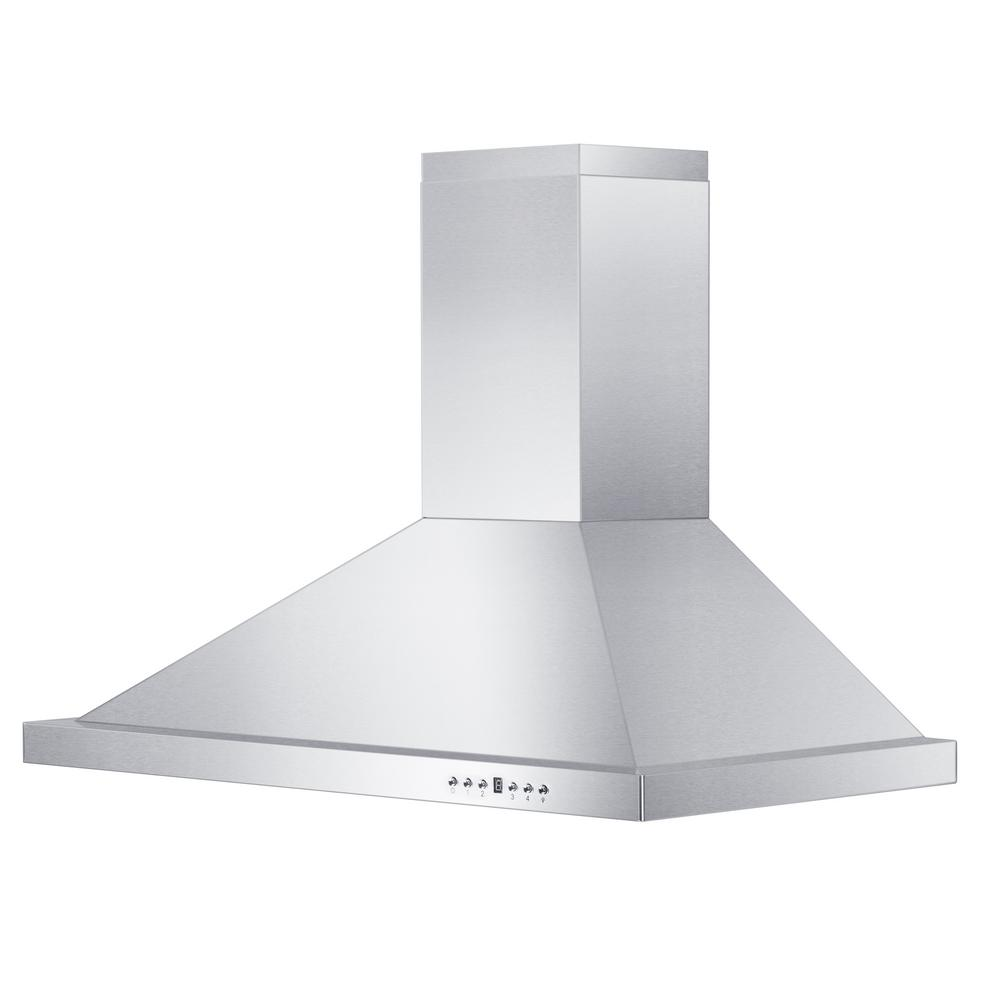 Zline Kitchen And Bath 36 In. Convertible Wall Mount Range Hood In Stainless Steel, Brushed 430 Stainless Steel