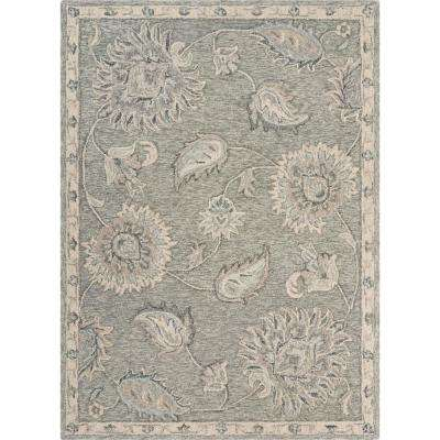 Victorian Light Gray 5 ft. x 7 ft. Traditional Paisley Area Rug