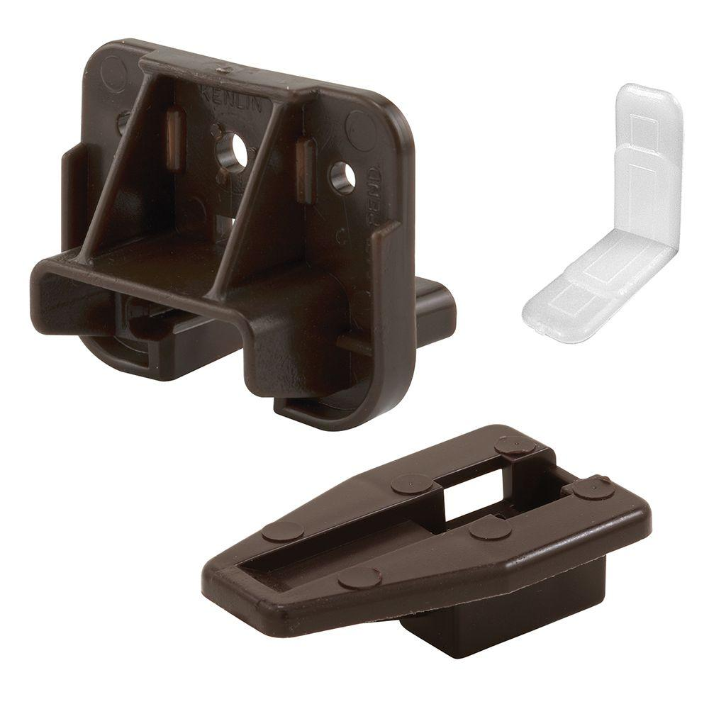 Dark Brown Drawer Track Guide And Glide 2 Pack