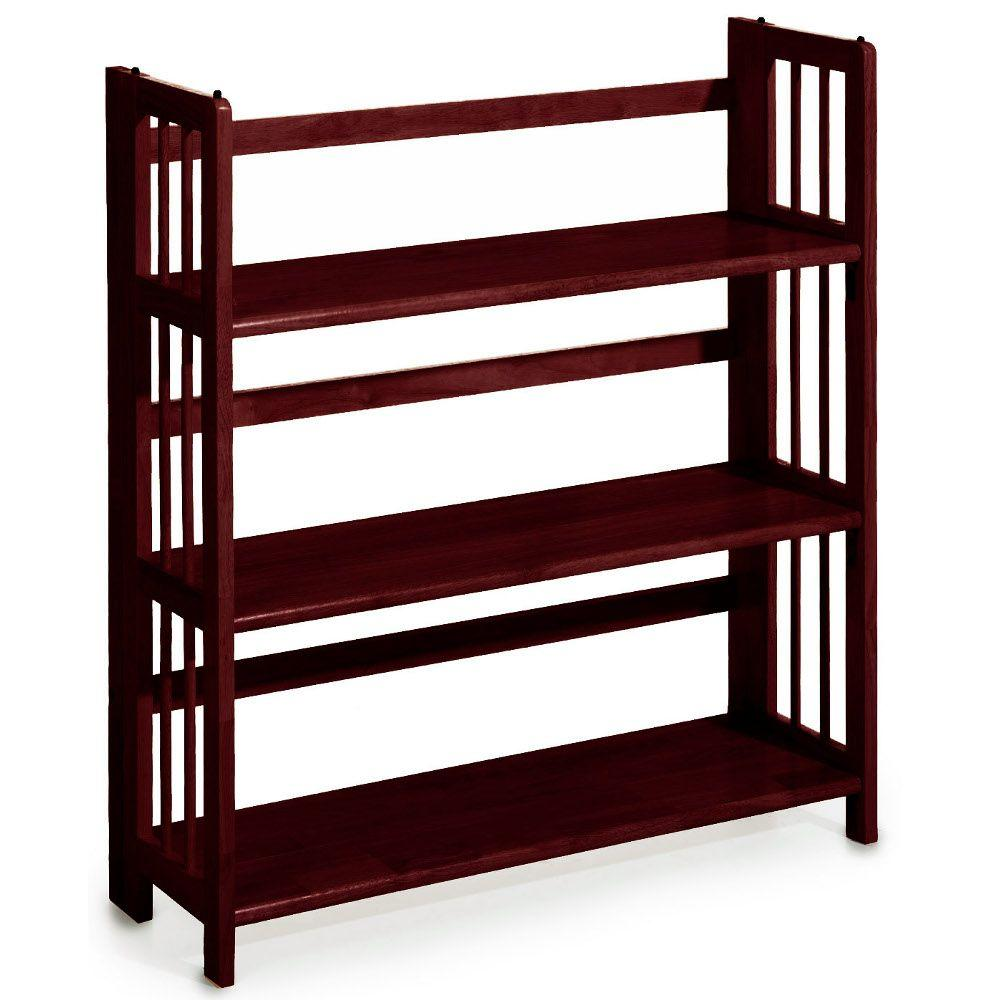 Casual Home Mahogany Folding/Stacking Open Bookcase
