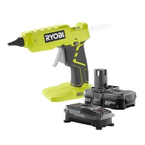 Ryobi 18-Volt ONE+ Lithium-Ion Full Size Glue Gun Kit with One 1.3Ah Battery and... by Ryobi