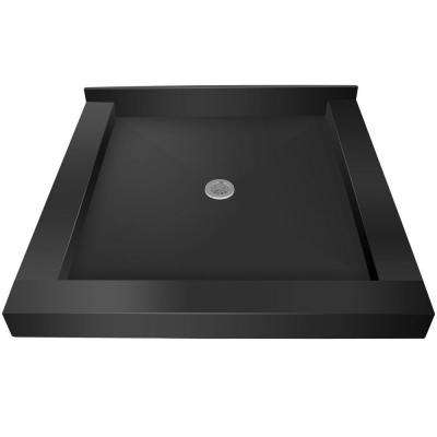48 in. x 48 in. Triple Threshold Shower Base with Center Drain