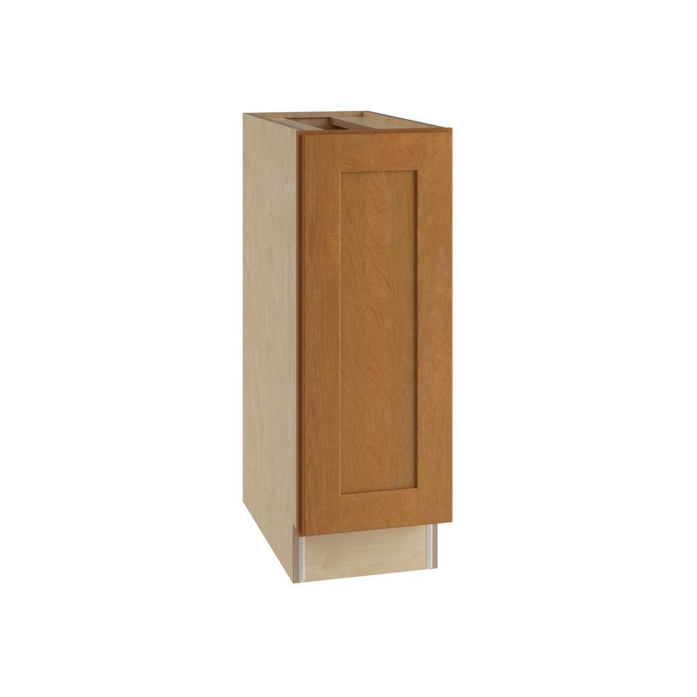 Hargrove Assembled 12x34.5x24 in. Single Door Hinge Left Base Kitchen Cabinet