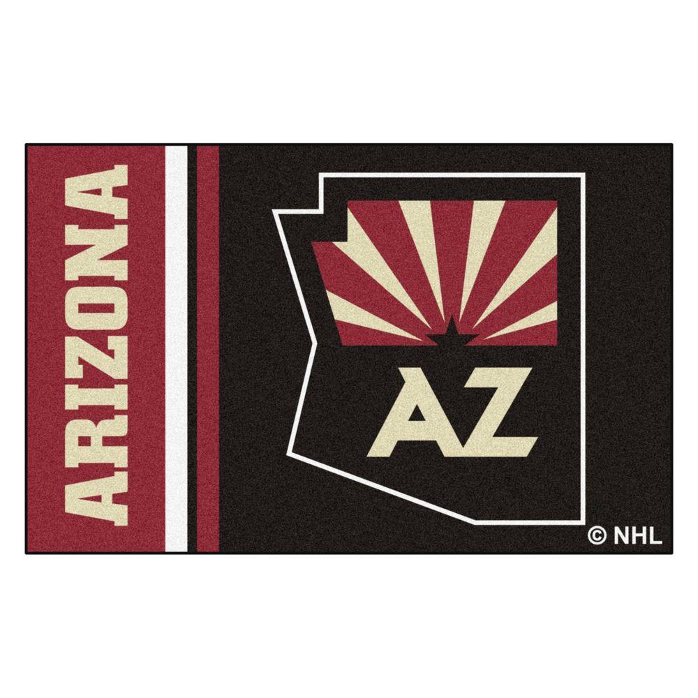 NHL - Arizona Coyotes Black 2 ft. x 3 ft. Indoor Area Rug