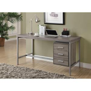 Monarch Specialties Dark Taupe Desk-I 7345 - The Home Depot