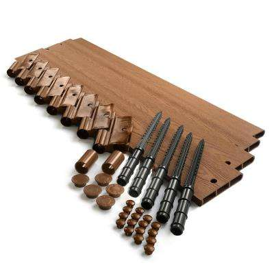 1 in. Profile Tool-Free Classic Sienna 16 ft. Straight Landscape Edging Kit