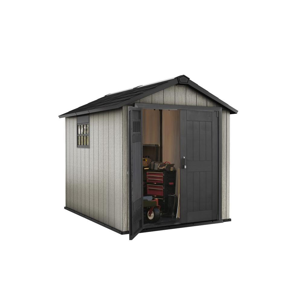 Oakland 7.5 ft. x 9 ft. Plastic Shed