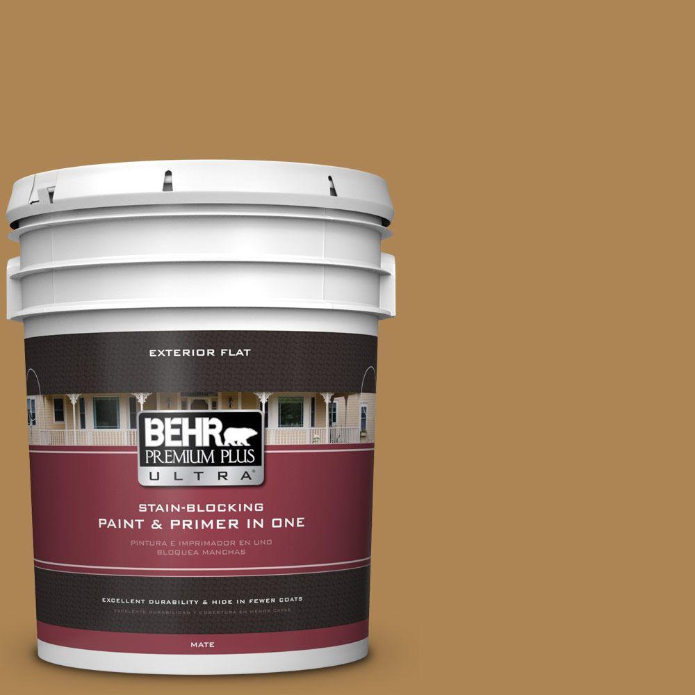 BEHR Premium Plus Ultra 5-gal. #S300-6 Harvest Time Flat Exterior Paint