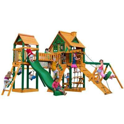 Pioneer Peak Treehouse with Fort Add-On and Timber Shield Cedar Playset