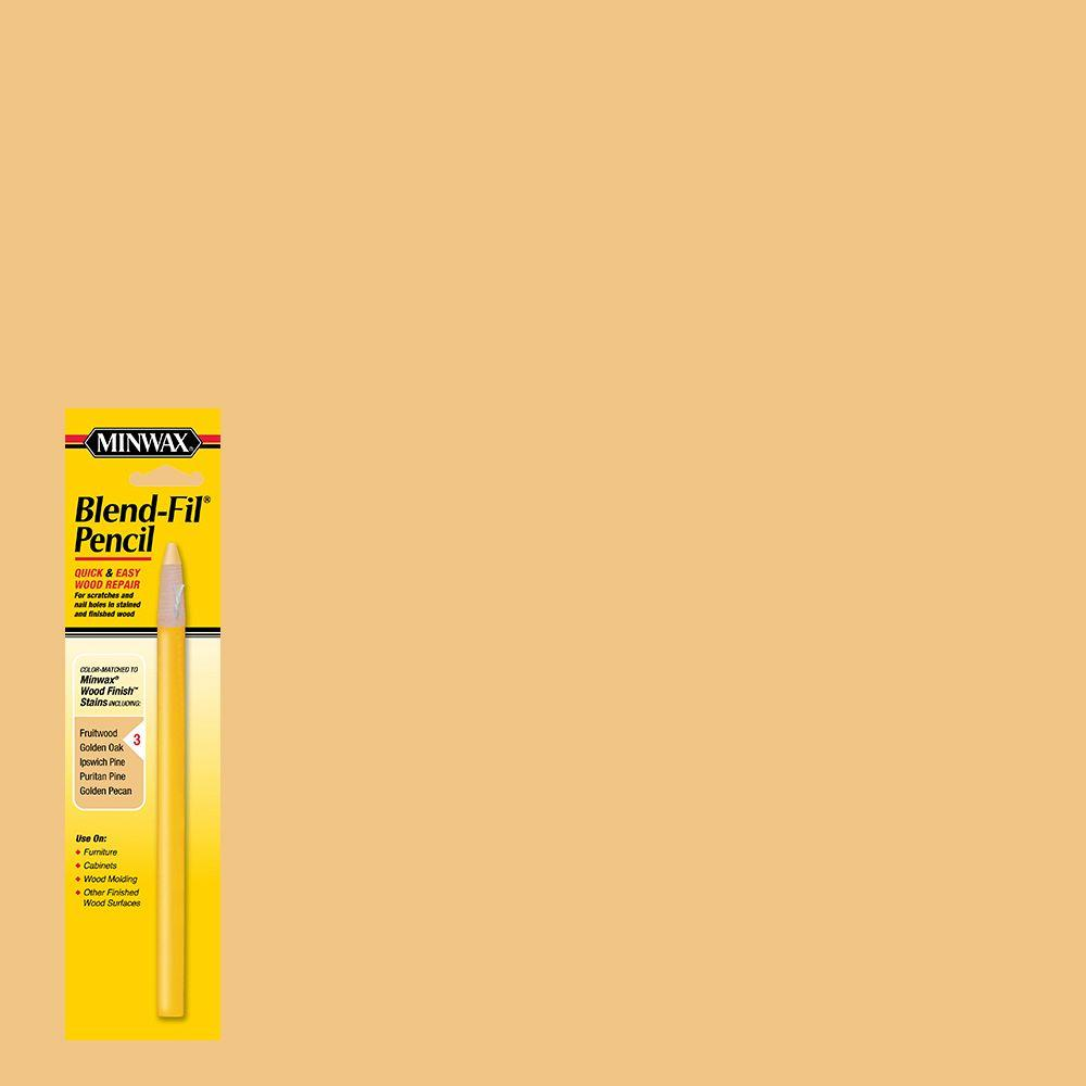 Minwax #3 Blend-Fil Pencil for Yellow Stained Wood