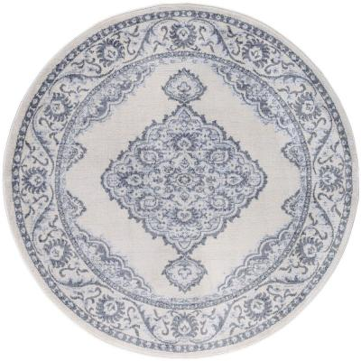Madison Cream 5 ft. 3 in. x 5 ft. 3 in. Round Area Rug