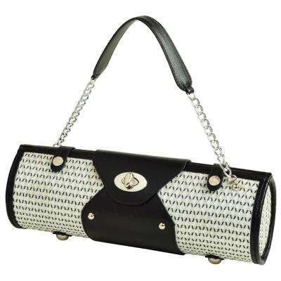 Black/White Wine Carrier and Purse