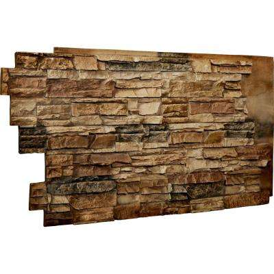 1-1/2 in. x 48 in. x 25 in. Saturn Urethane Stacked Stone Wall Panel