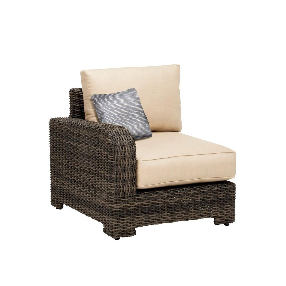 Brown Jordan Northshore Left Arm Patio Sectional Chair with Harvest ...