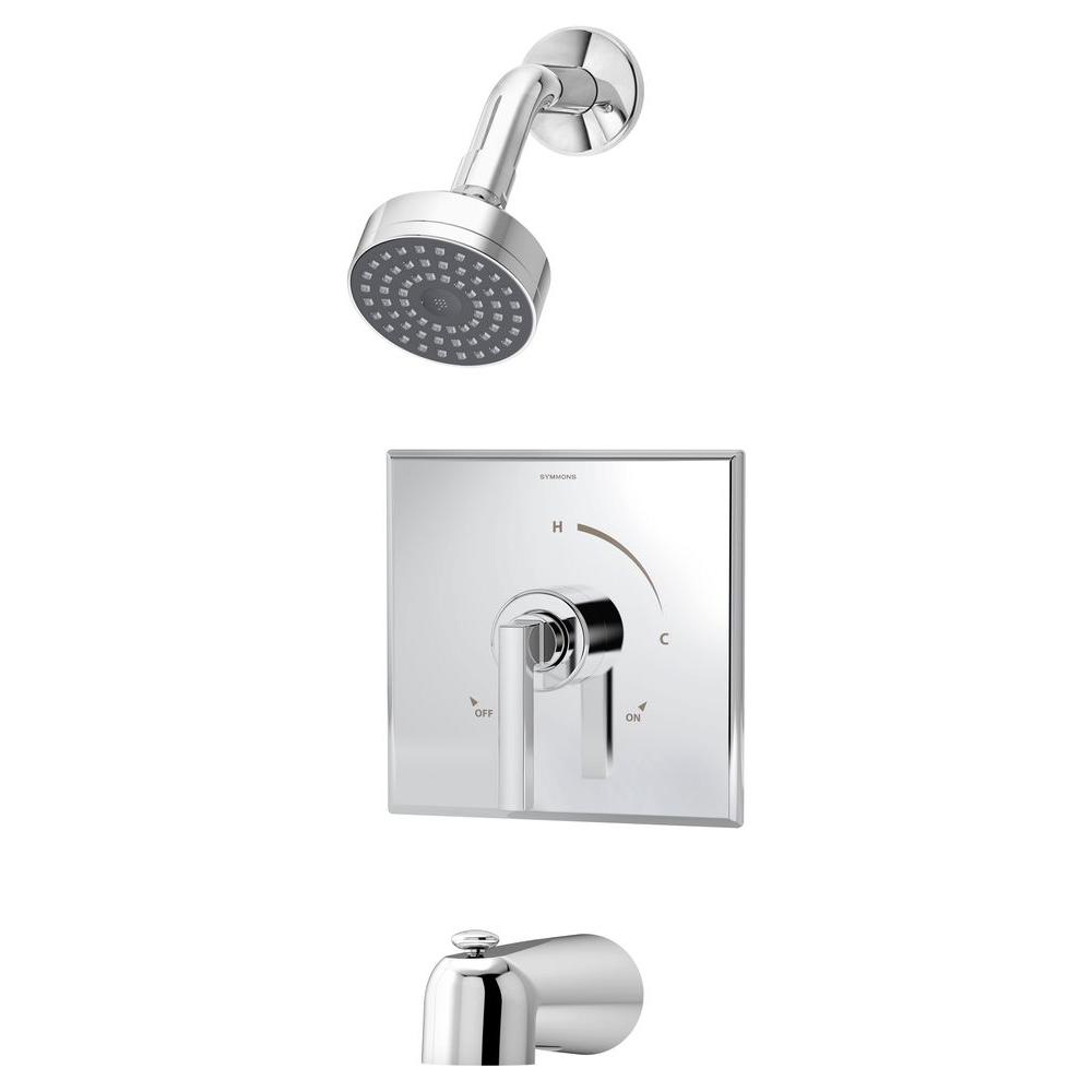 Duro Single-Handle 1-Spray Tub and Shower Faucet in Chrome (Valve Not