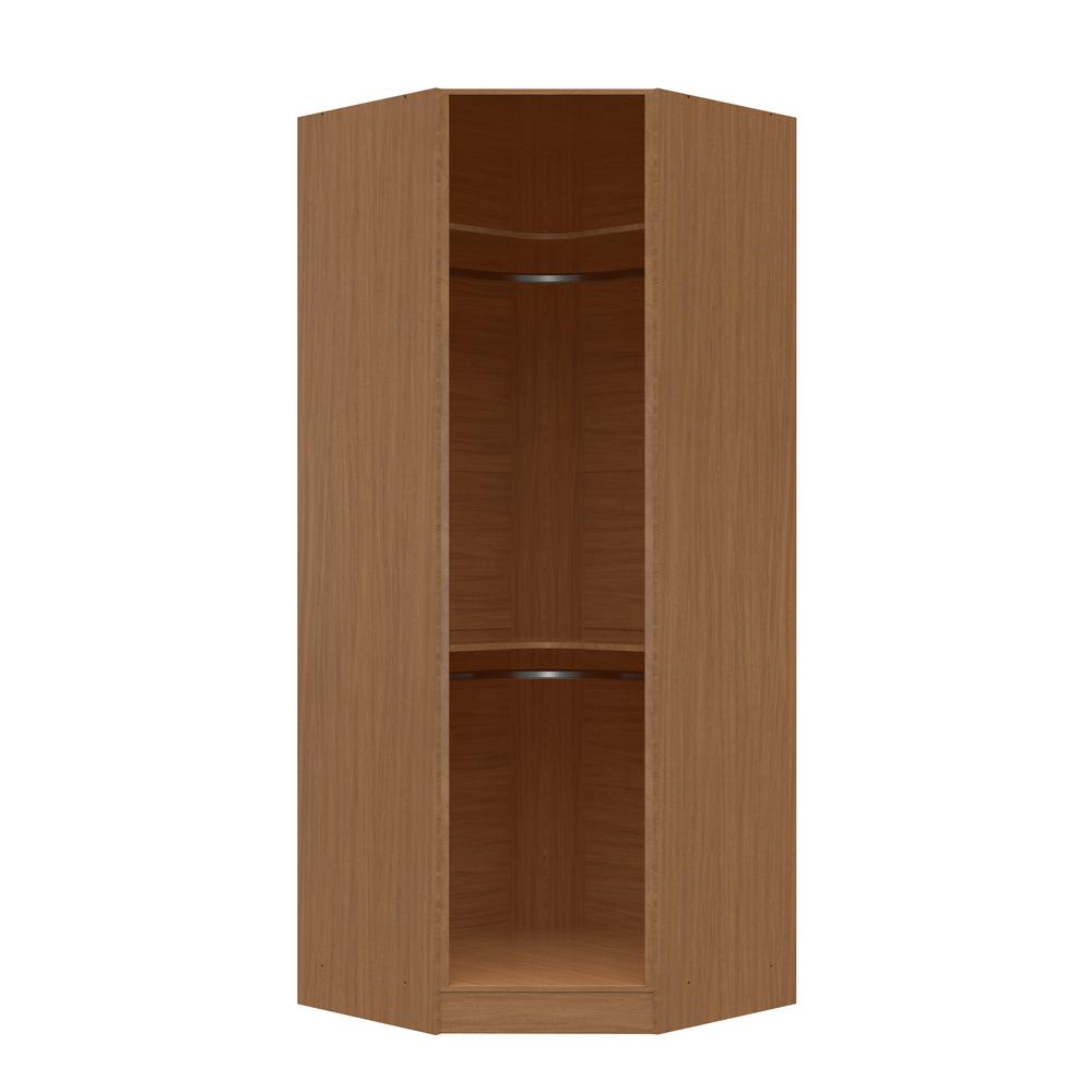 Sauder county line rum walnut armoire 415995 the home depot for Corner bedroom armoire