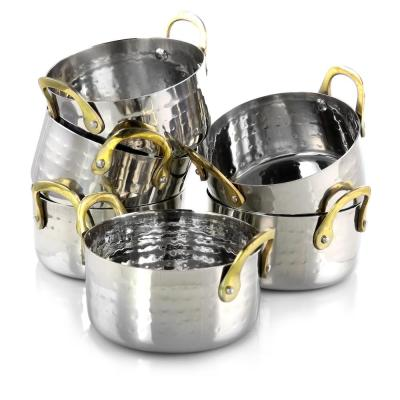 Lannister 0.5 qt. Round Stainless Steel Dutch Oven 6-Pack