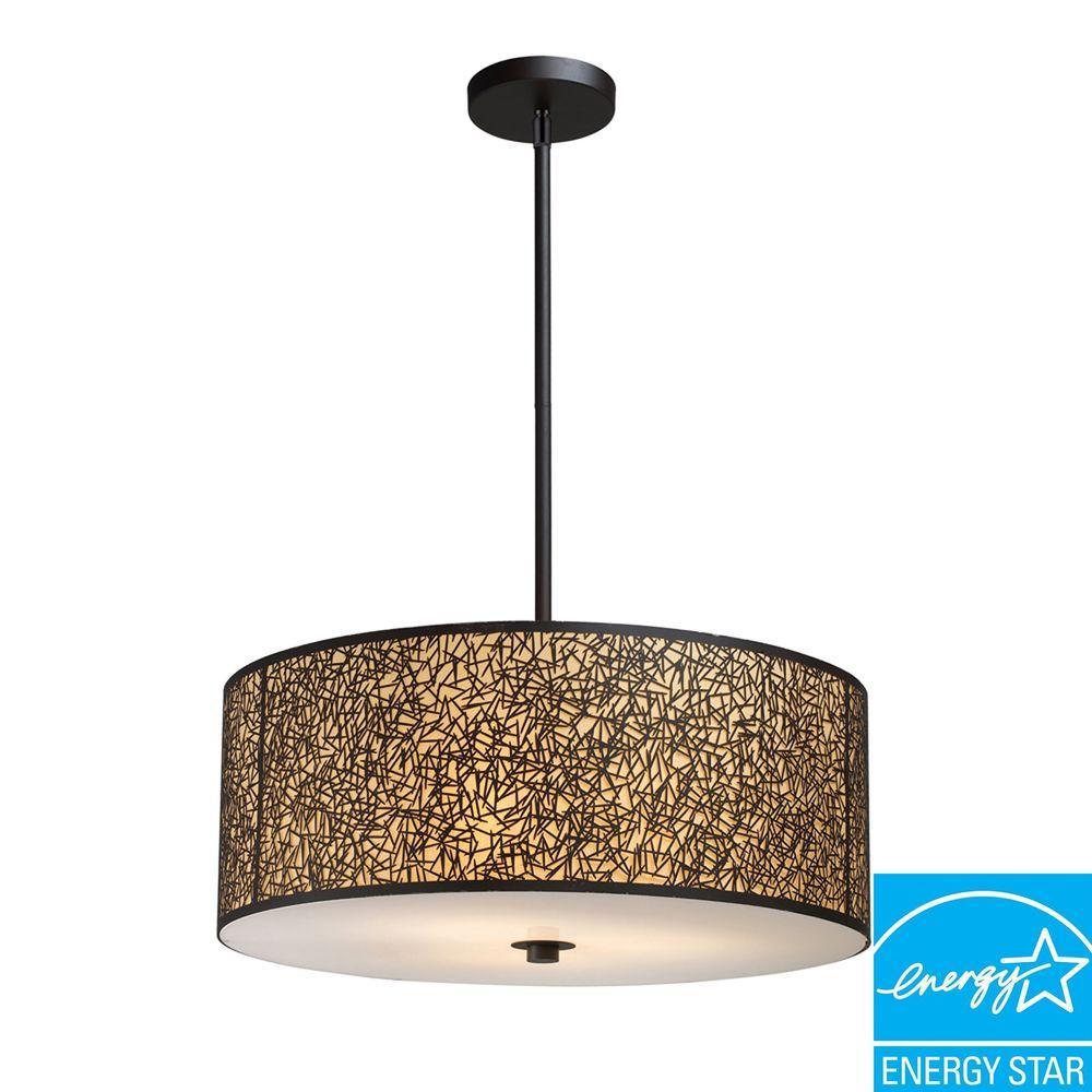 Titan Lighting 5-Light Aged Bronze Pendant-DISCONTINUED