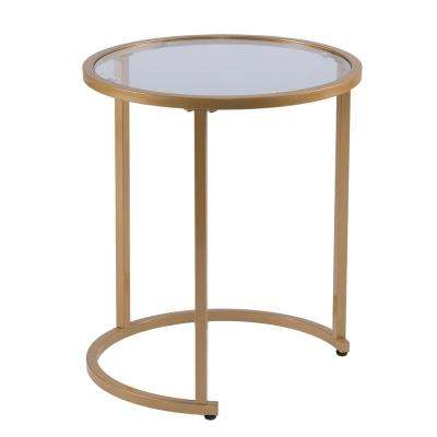 Narita Gold Glam Nesting Side Table (Set of 2)