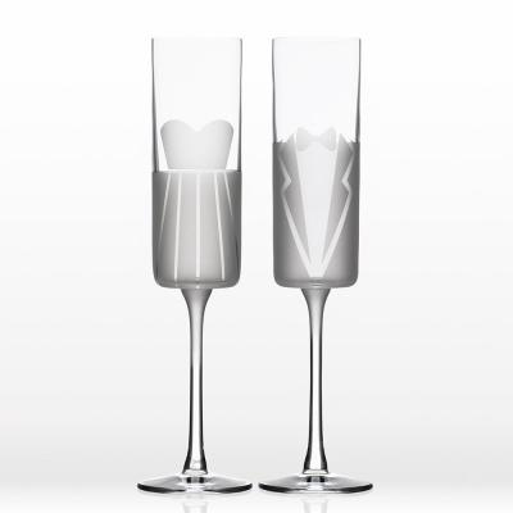 Wedding Cheers Formal (Dress/Tux) 5.75 oz. Flute (Set of 2)