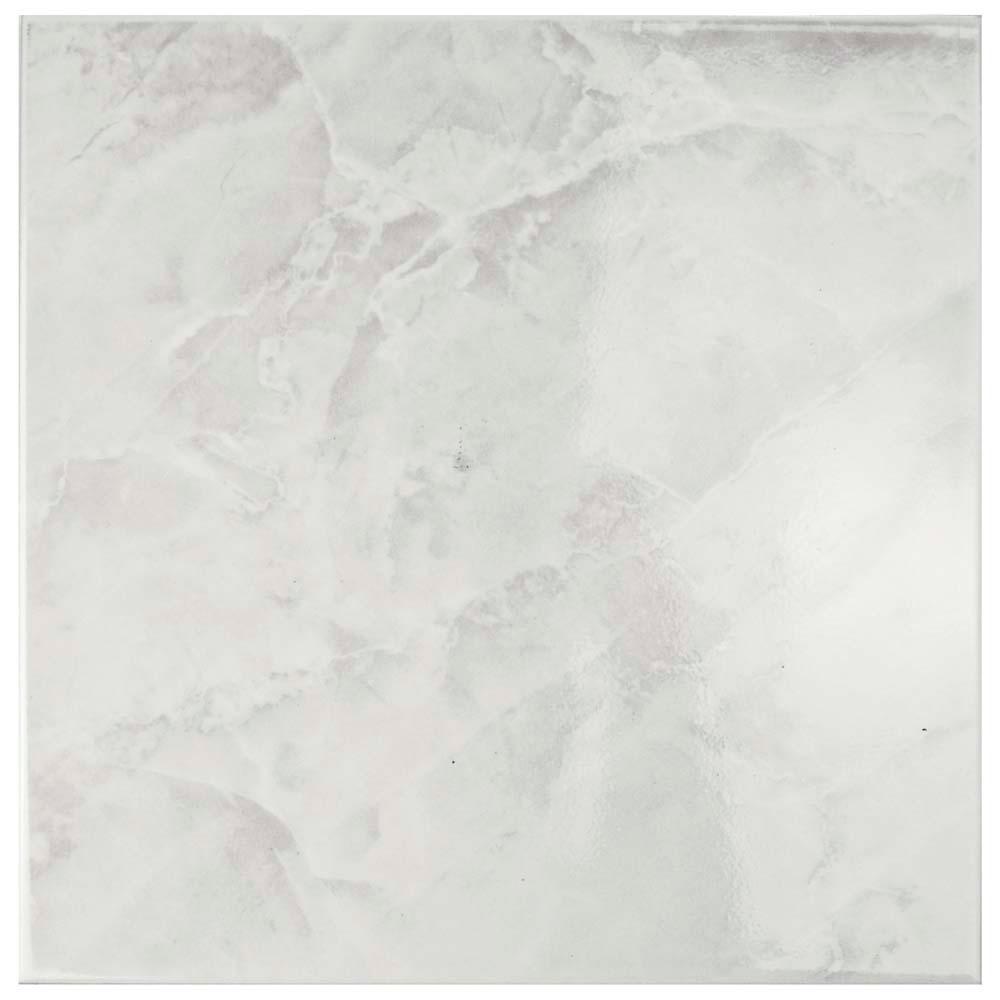 White Tile daltile glacier white 12 in. x 12 in. ceramic floor and wall tile
