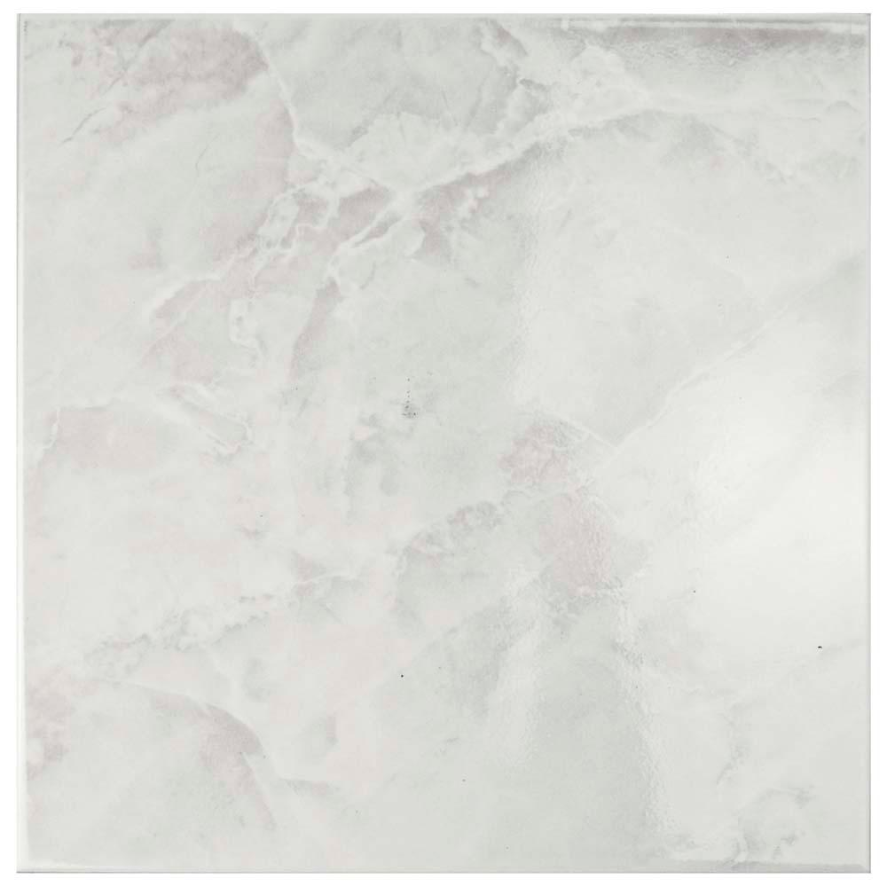 Merola Tile Gamma White 11-3/4 in. x 11-3/4 in. Ceramic Floor and ...