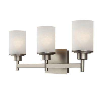 Lyndi 3-Light Brushed Nickel Bath Light