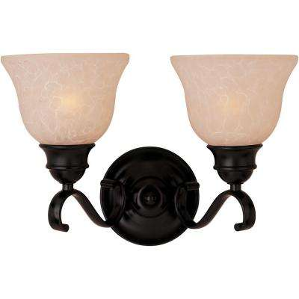 Linda EE 2-Light Oil-Rubbed Bronze Bath Vanity Light