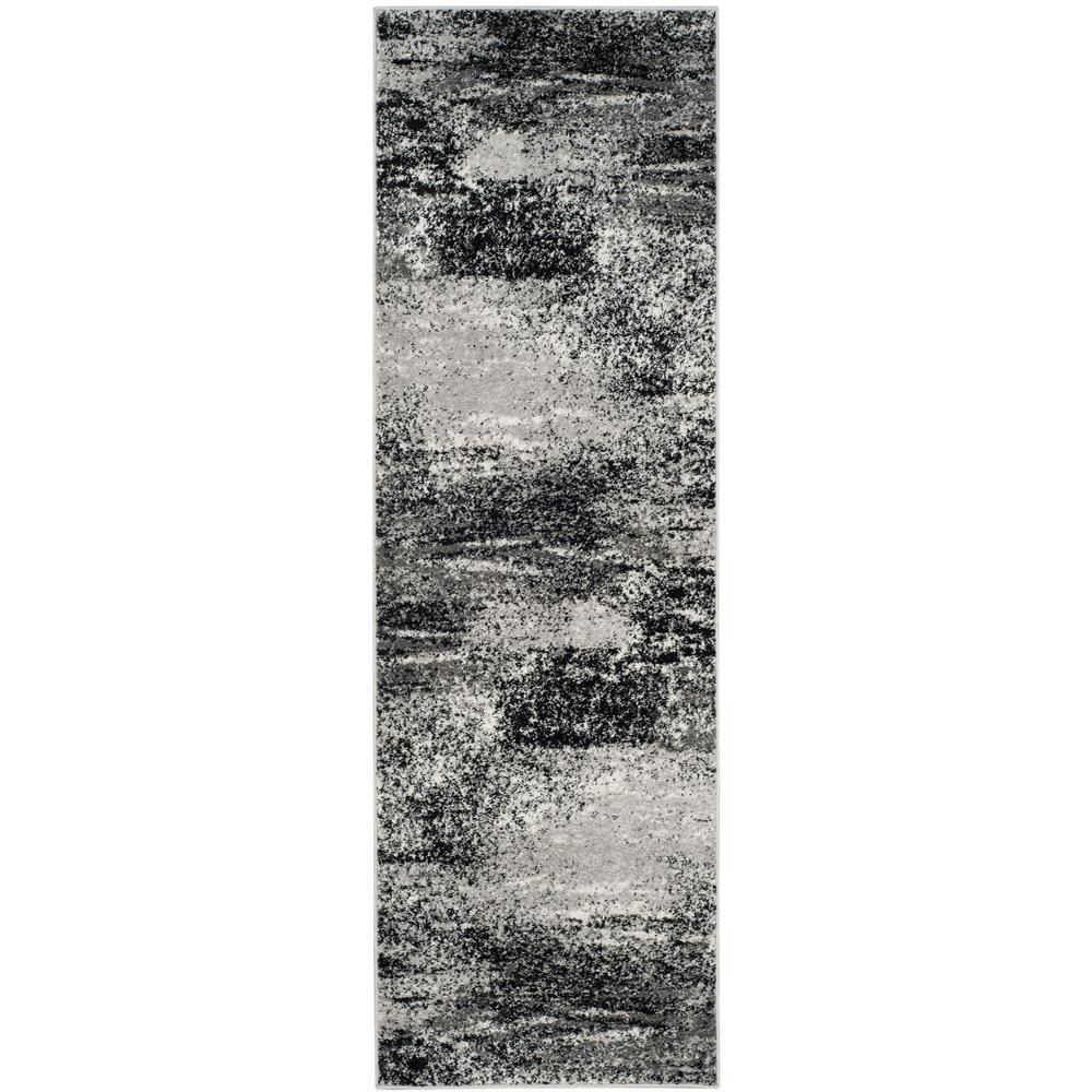 Adirondack Silver/Multi 3 ft. x 18 ft. Runner Rug