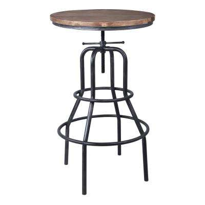 Titan Industrial Grey Adjustable Pub Table