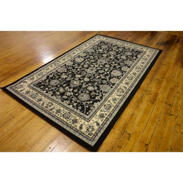 Reviews For Unique Loom Sialk Hill Washington Black 5 0 X 8 0 Area Rug 3119185 The Home Depot