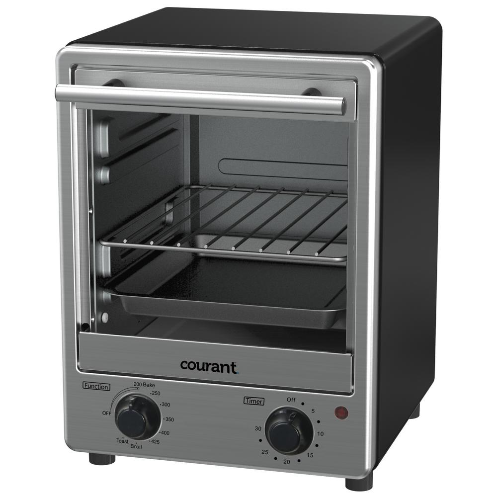 Courant 4-Slice Stainless Steel Toaster Oven