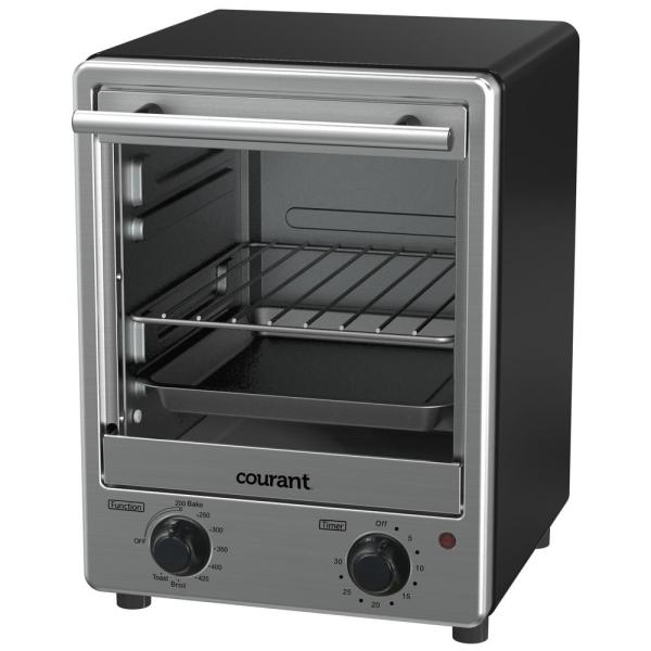 Courant 4-Sandwich Bread Slice Stainless Steel Front Toaster Oven TO1235K