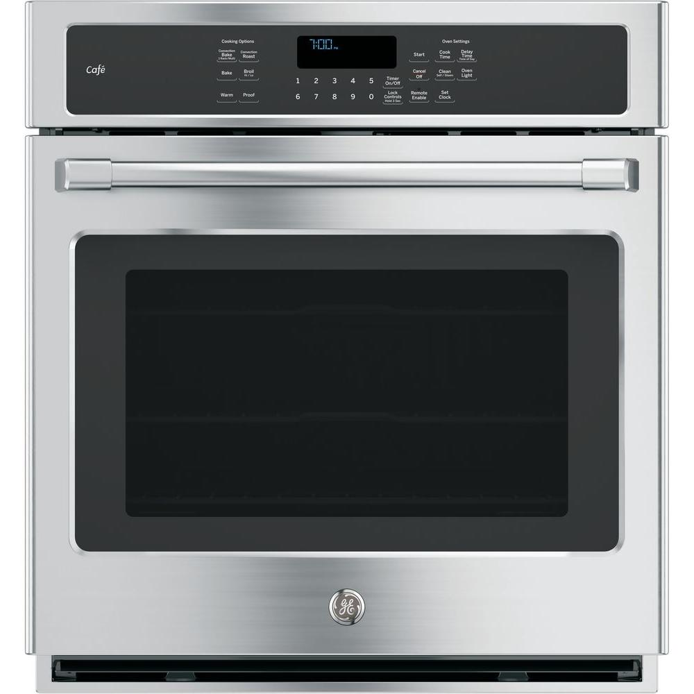 GE 27 in. Single Electric Smart Wall Oven Self-Cleaning with Convection and WiFi in Stainless Steel
