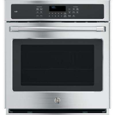 27 in. Single Electric Smart Wall Oven Self-Cleaning with Convection and WiFi in Stainless Steel