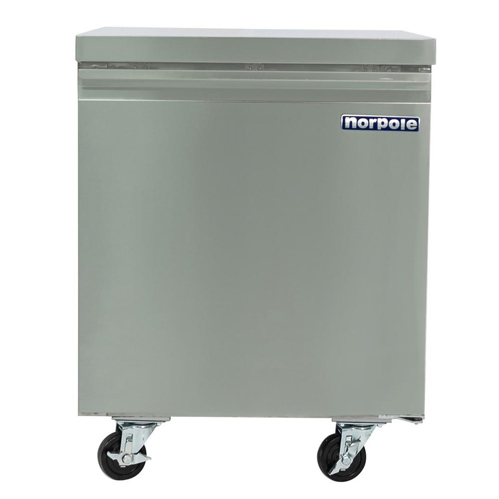 Norpole 6 cu. ft. Commercial Under Counter Upright Freezer in Stainless Steel
