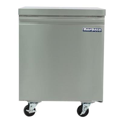 6 cu. ft. Commercial Under Counter Upright Freezer in Stainless Steel
