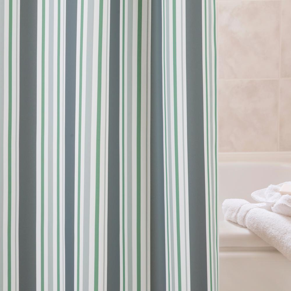 PEVA 72 in. Multi-Color Medium Weight Decorative Shower Curtain Liner