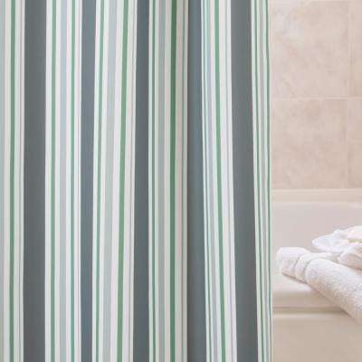 PEVA 72 in. Multi-Color Medium Weight Decorative Shower Curtain Liner