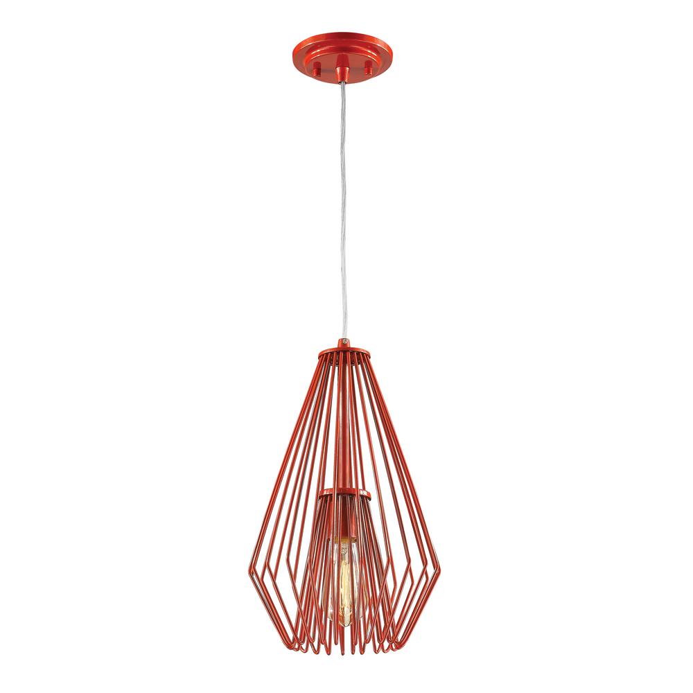 Filament design naveen 1 light red mini pendant with red steel shade filament design naveen 1 light red mini pendant with red steel shade aloadofball Image collections
