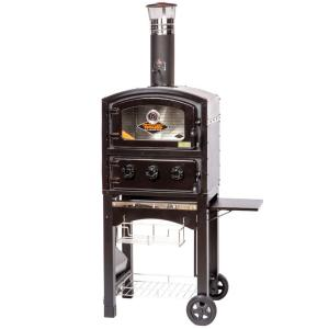 Fornetto Wood Fired Oven and Smoker in Black by Fornetto