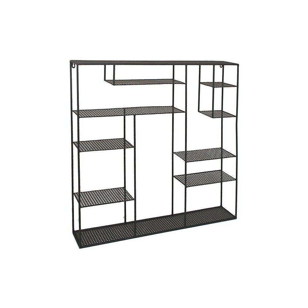 Home Decorators Collection Brawely Black 33.5 in. H Metal Wall Rack