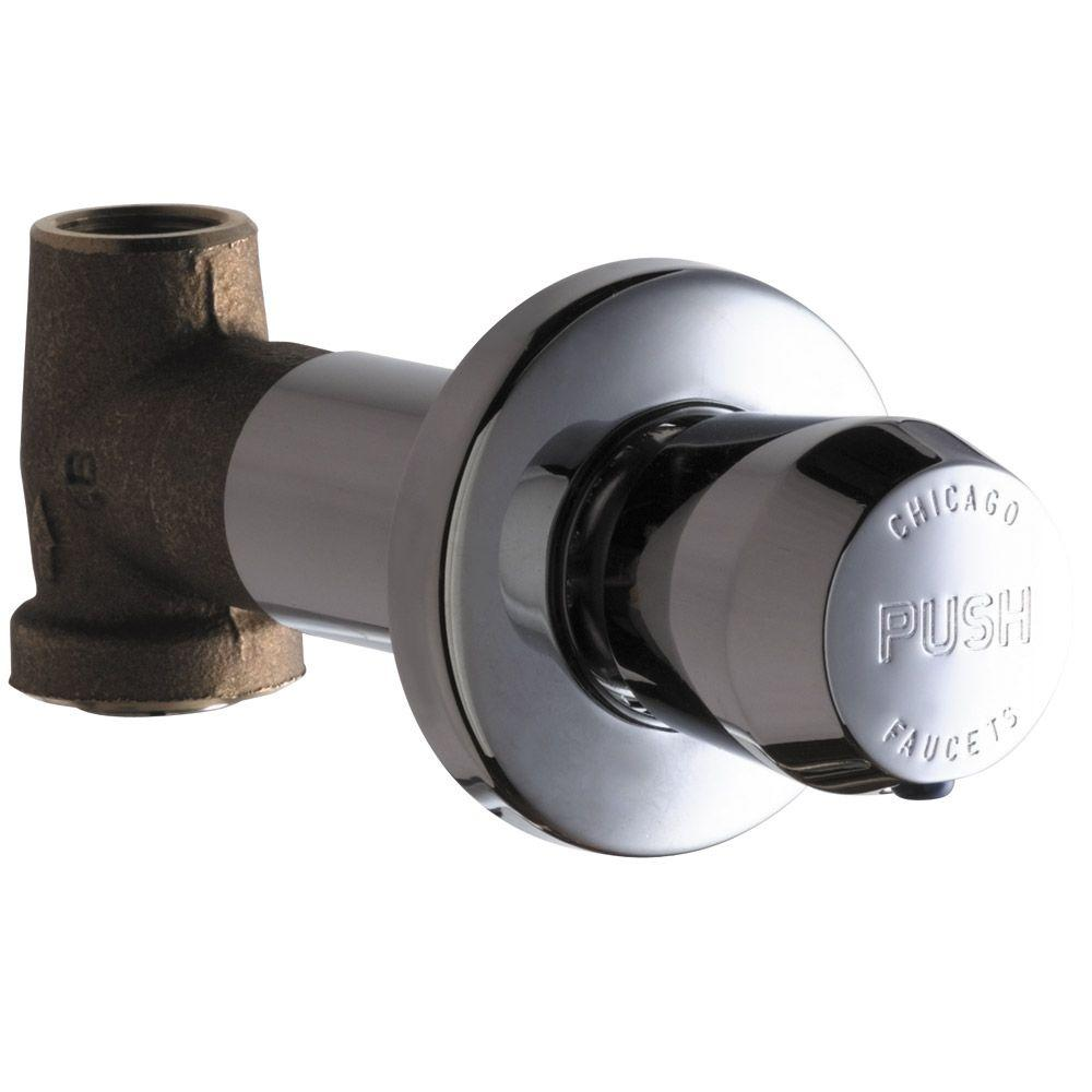 Chicago Faucets Concealed Straight Valve with MVP Metering Push ...
