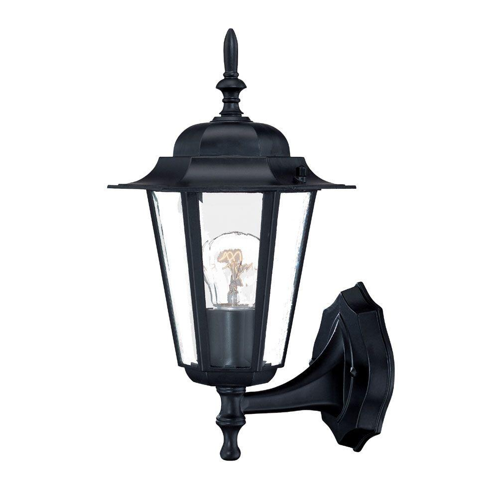 Home Depot Exterior Light Fixtures: Acclaim Lighting Camelot Collection 1-Light Matte Black