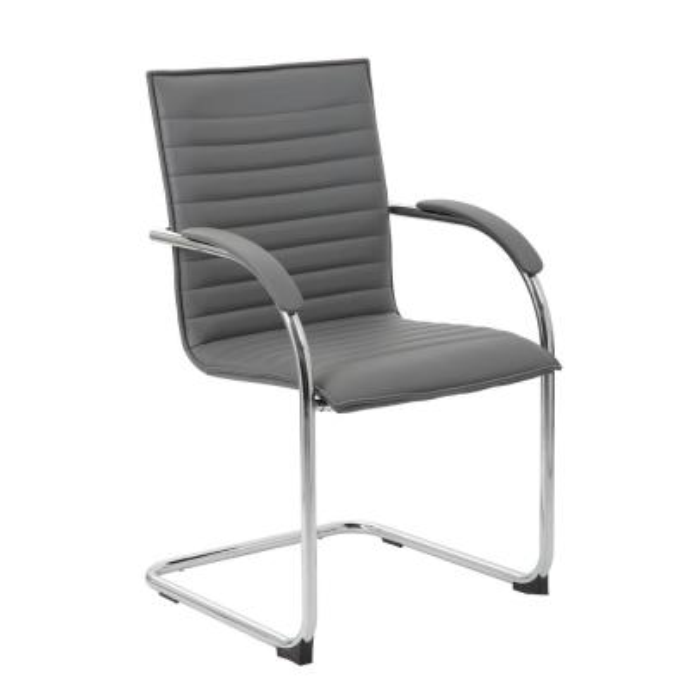 Gray Vinyl Side Chair (2-Pack)