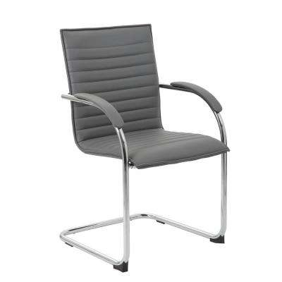 Gray Vinyl Side Chair (2-Pack)